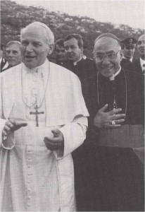 Servant of God Bishop Gulgielmo Giaquinta, Founder of the Pro Sanctity Movement, with Blessed Pope John Paul II